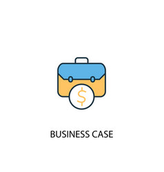 printbusiness case concept 2 colored line icon vector image