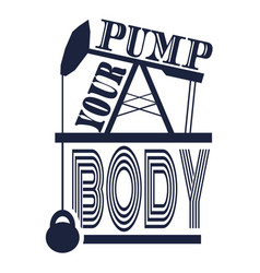 pump your body text vector image