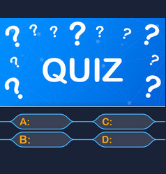 Quiz game test exam answer education learning vector