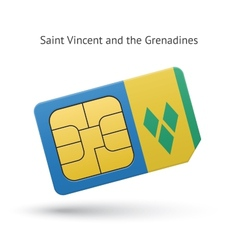 Saint Vincent and the Grenadines phone sim card vector image