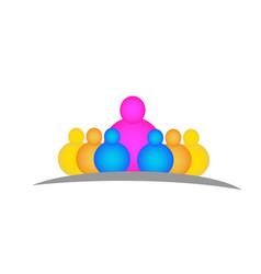 school teacher with children people logo vector image