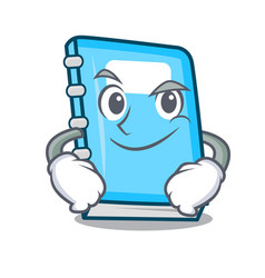 smirking education character cartoon style vector image