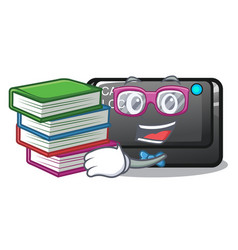 Student with book capslock button isolated with vector