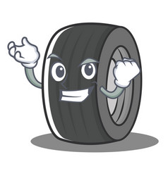 Successful tire character cartoon style vector