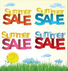 summer sale 3 vector image