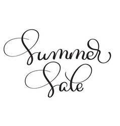 summer sale vintage text on white vector image