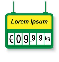 supermarket price label vector image