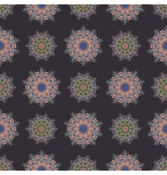 The boho style Seamless pattern vector image