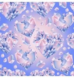 Watercolor crystal pattern vector