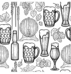 Waterdcolor oktoberfest seamless pattern vector