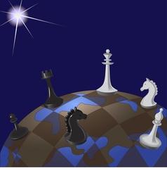 world chessboard vector image