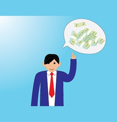 Business people with thinking money vector image