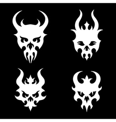 death skulls vector image vector image