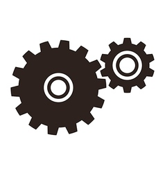 Gears cogs icon vector image