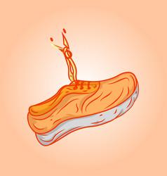 orange shoes vector image