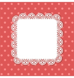 square lace border background vector image vector image
