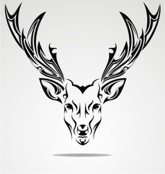 Artistic Deer Head vector image