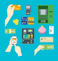 cartoon payment concept set vector image