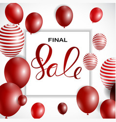 abstract designs final sale banner template with vector image