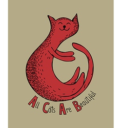 All Cats Are Beautiful vector image vector image