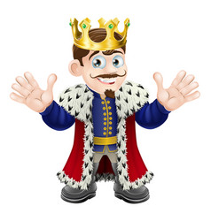 cute king man vector image