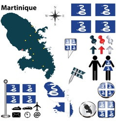Martinique map vector image