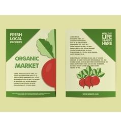 Summer Farm Fresh poster template or brochure vector image