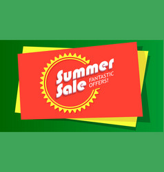 summer sale fantastic offer poster hot bright vector image vector image