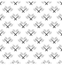 Battle axes seamless pattern vector image