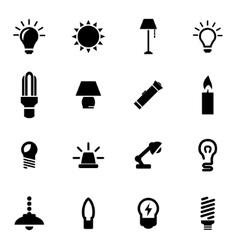 black light icon set vector image