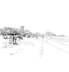 copacabana beach rio de janeiro brazil vector image vector image