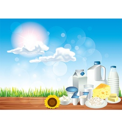 dairy sunny background vector image