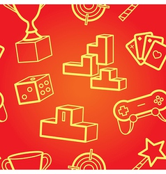 game seamless pattern vector image vector image