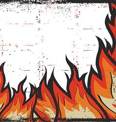 Grunge Fire Frame Background vector image