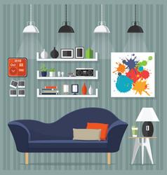 interior room design vector image vector image