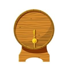 Wooden beer keg icon cartoon style vector image