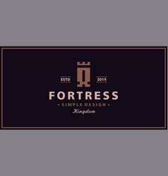 a letter castle logo design inspiration vector image