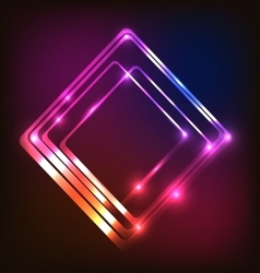 Abstract glowing colorful background with rounded vector image