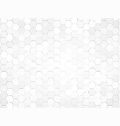 abstract gray hexagonal design background vector image