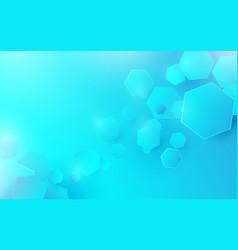 abstract technology digital hi-tech hexagons vector image