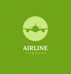 airline logo plane travel icon airport flight vector image