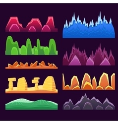 Alien Mountains And Colorful Desert Landscaping vector image