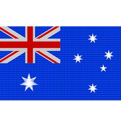 Australian flag embroidery design pattern vector