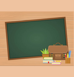 back to school poster template vector image