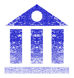 Bank building grunge textured icon vector