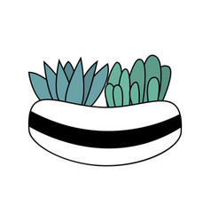 beautiful cartoon style colorful plant vector image