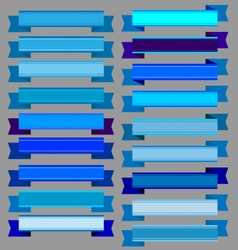Blue ribbons and blue banners vector image