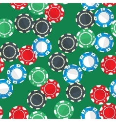 Casino gambling chips seamless pattern vector image vector image