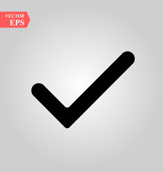 check mark check icon in trendy flat vector image