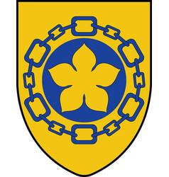 Coat arms hamilton in canada vector